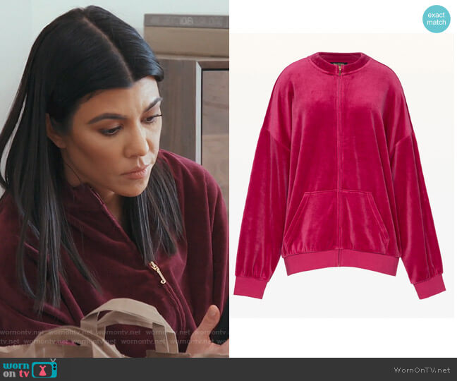 Velour Beverly Jacket by Juicy Couture worn by Kourtney Kardashian on Keeping Up with the Kardashians