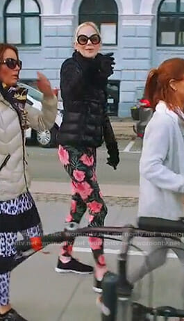 Kameron's black floral leggings on The Real Housewives of Dallas