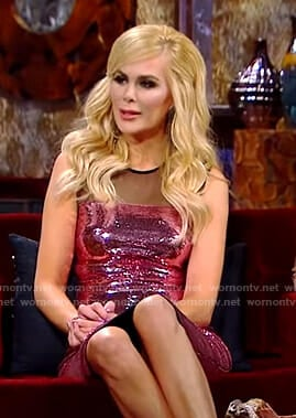 Kameron pink sequin dress on The Real Housewives of Dallas