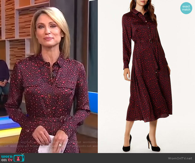 Leopard Print Maxi Dress by Karen Millen worn by Amy Robach  on Good Morning America