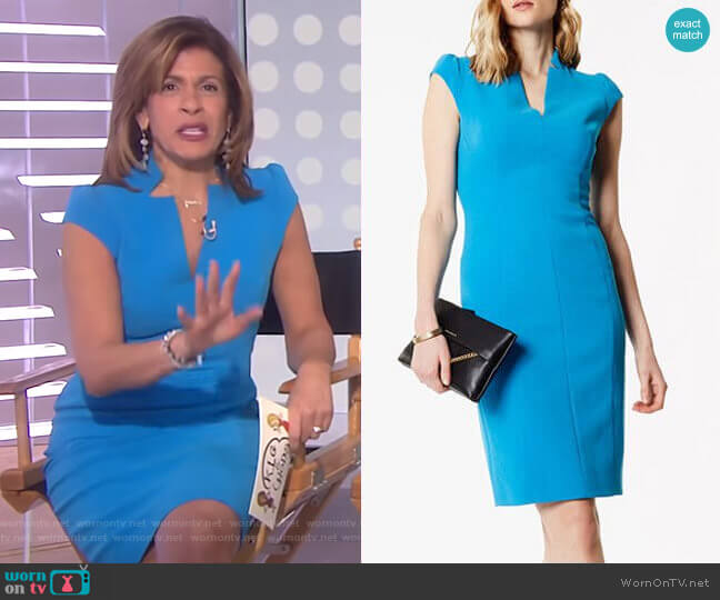 Tailored Pencil Dress by Karen Millen worn by Hoda Kotb on Today