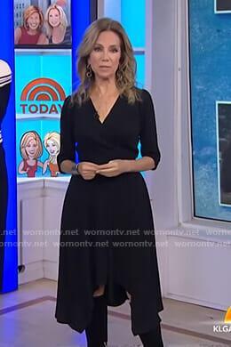 Kathie's black wrap dress on Today