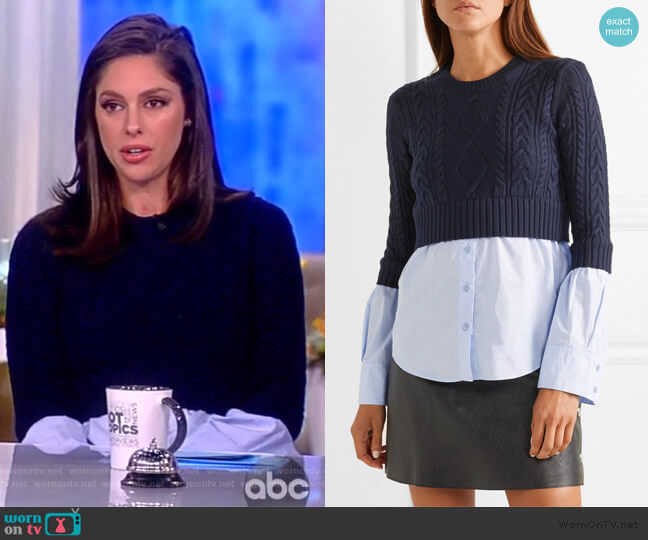 Layered Cable-Knit Sweater by Kenzo worn by Abby Huntsman  on The View
