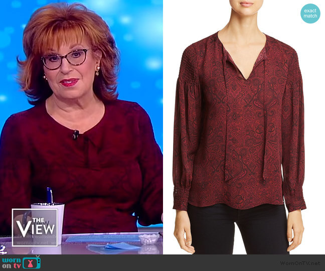 Kylee Printed Silk Blouse by Kobi Halperin worn by Joy Behar  on The View