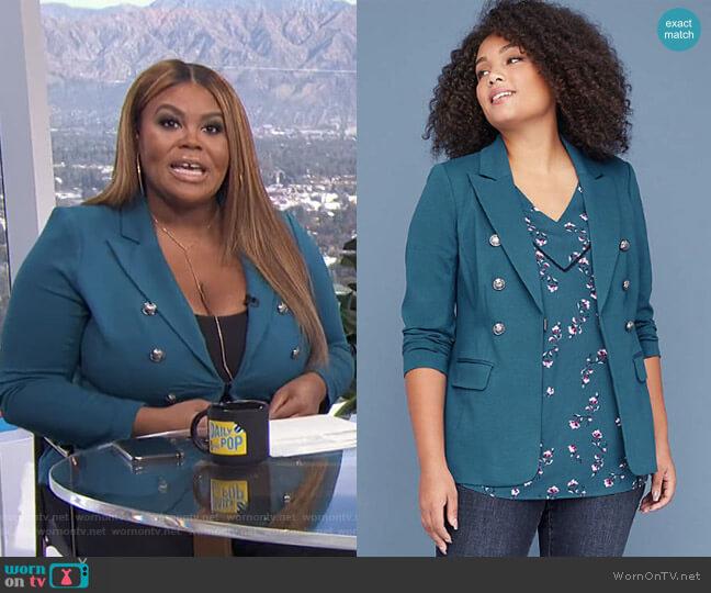 Bryant Blazer by Lane Bryant worn by Nina Parker (Nina Parker) on E! News