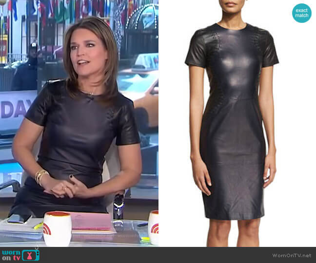 Leather Short Sleeve Dress by Prabal Gurung worn by Savannah Guthrie  on Today
