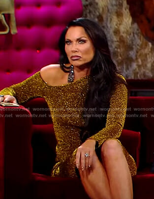 LeeAnne's gold lurex dress on The Real Housewives of Dallas