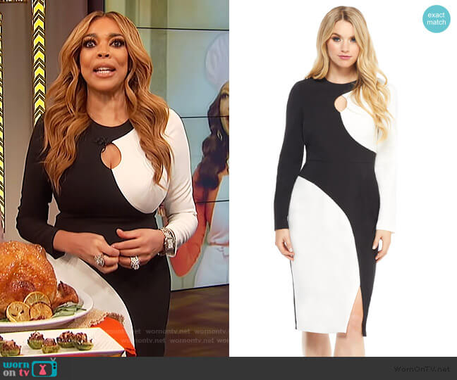 Bia Midi Dress by Maggy London worn by Wendy Williams  on The Wendy Williams Show