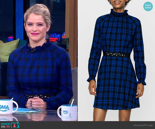 Rivine Dress by Maje worn by Sara Haines  on Good Morning America