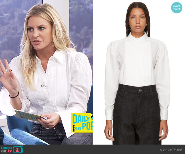 White Topstitched Shirt by Marc Jacobs worn by Morgan Stewart (Morgan Stewart) on E! News