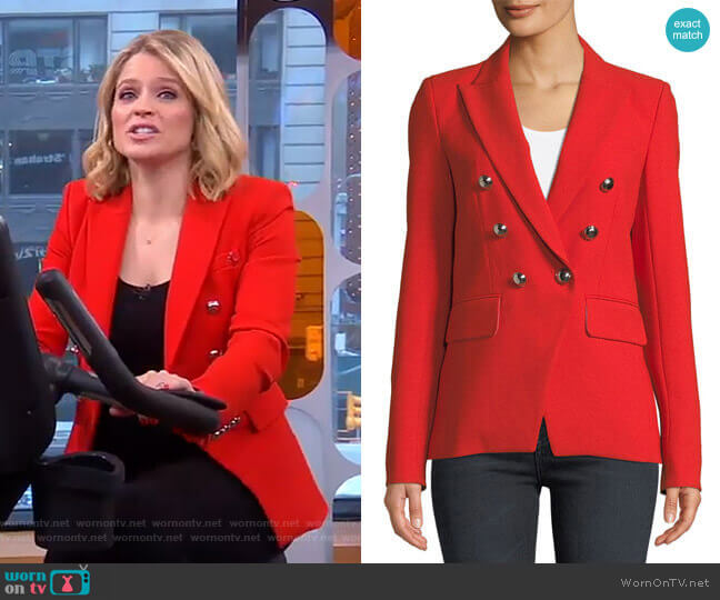 Miller Jacket by Veronica Beard worn by Sara Haines (Sara Haines) on Good Morning America