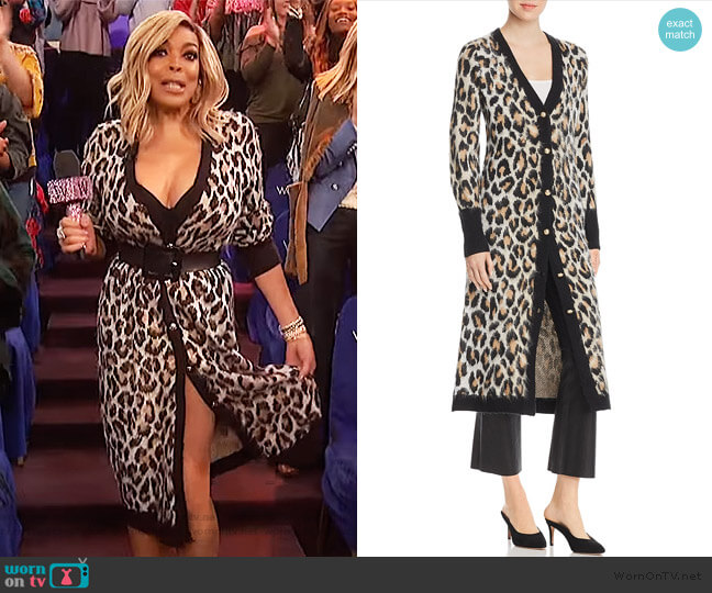 Leopard Print Duster Cardigan by Marled x Olivia Culpo worn by Wendy Williams  on The Wendy Williams Show