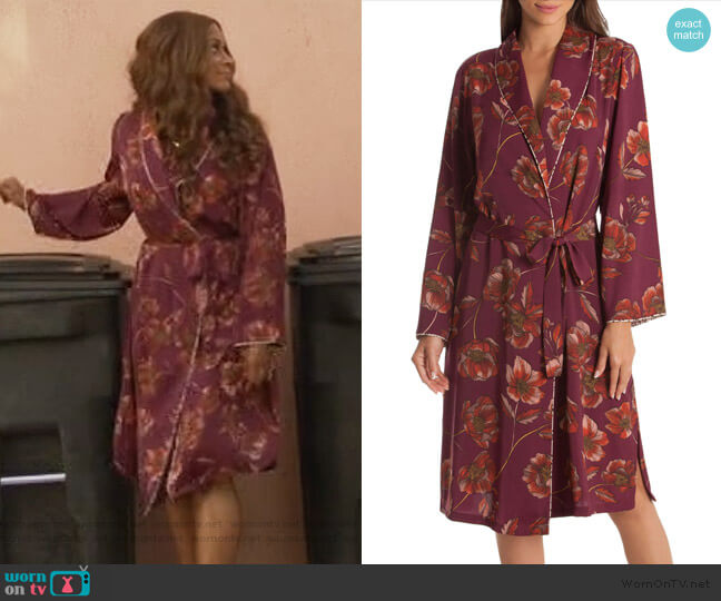 Austin Floral Robe by Midnight Bakery worn by Kimrie Lewis on Single Parents