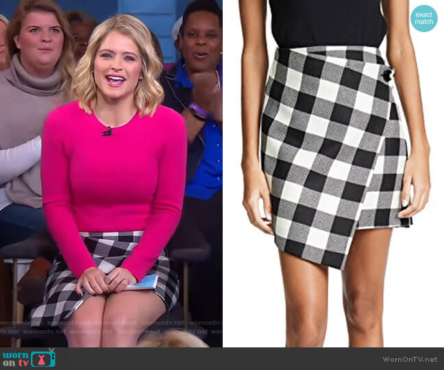 Sara's check skirt on GMA Day