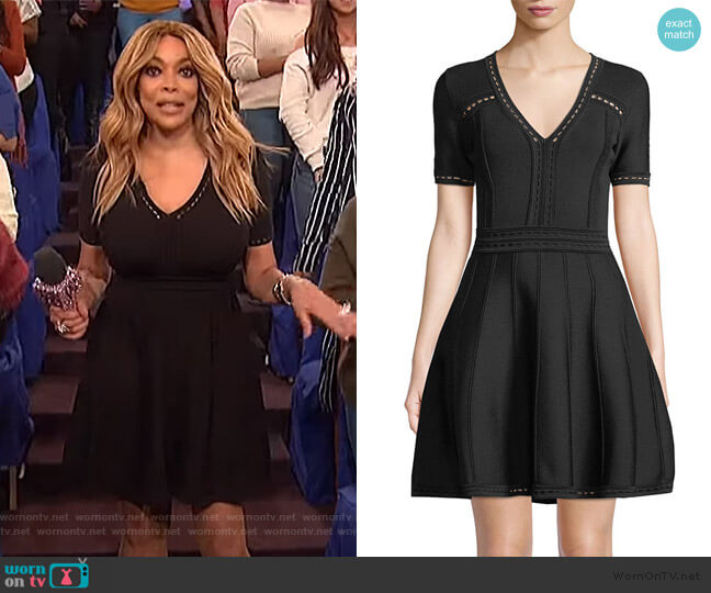 Pointelle Flare Dress by Milly worn by Wendy Williams  on The Wendy Williams Show