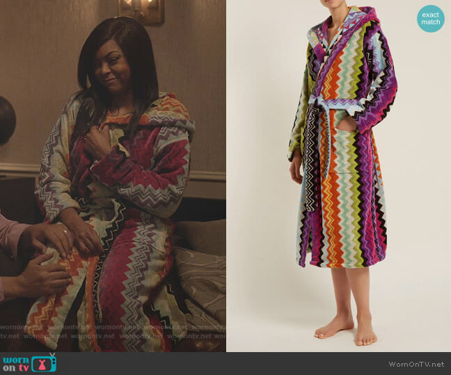 Giacomo Bathrobe by Missoni Home worn by Taraji P. Henson on Empire