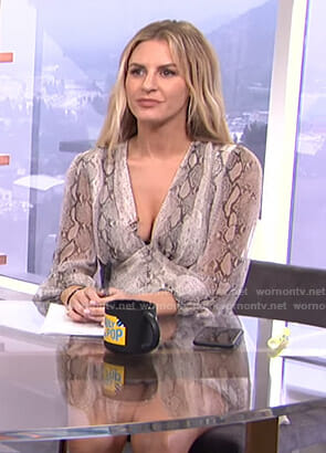 Morgan's snake print romper on E! News Daily Pop
