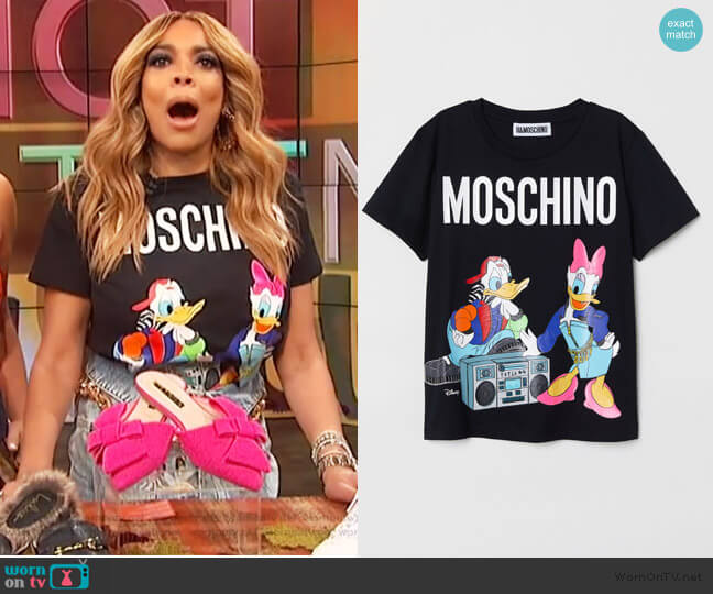 T-shirt with Printed Design by H&M worn by Wendy Williams on The Wendy Williams Show