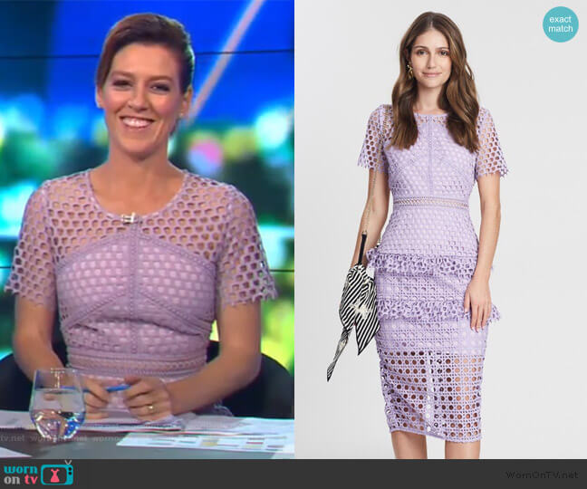 The Mirror Image Dress by Mossman worn by Gorgi Coghlan  on The Project