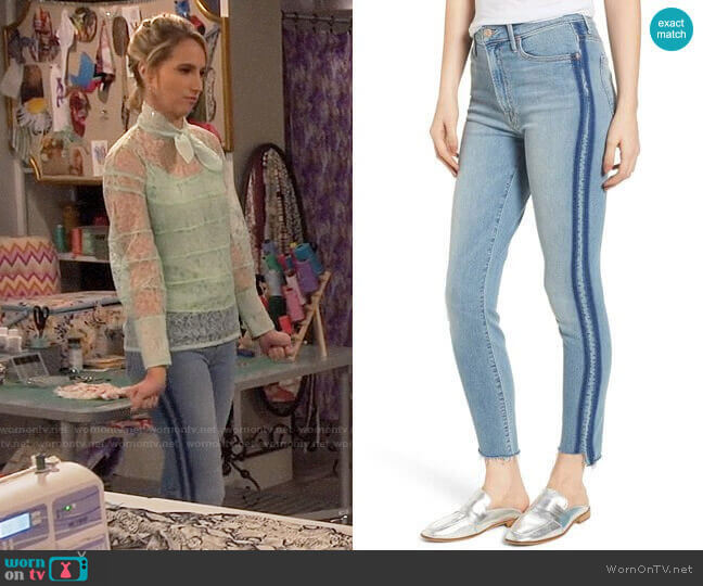 The Stunner Jeans by Mother worn by Mandy Baxter (Molly McCook) on Last Man Standing