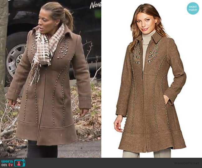 Grace Coat by Nanette Lepore worn by Dolores Catania  on The Real Housewives of New Jersey