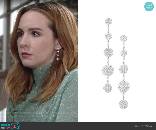 Nordstrom Pavé Starburst Drop Earrings worn by Mariah Copeland (Camryn Grimes) on The Young & the Restless