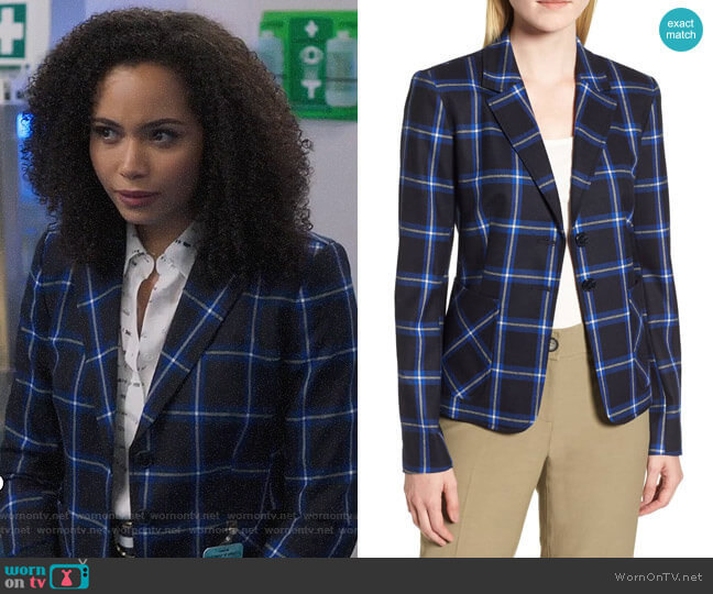 Nordstrom Signature Plaid Blazer worn by Macy Vaughn (Madeleine Mantock) on Charmed