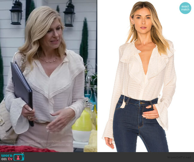 Silvette Blouse by Paige worn by Debra Newell (Connie Britton) on Dirty John