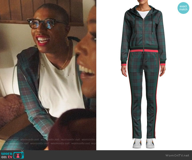 Stewart Zip Hoodie and pants by Pam & Gela worn by Henrietta Wilson (Aisha Hinds) on 9-1-1