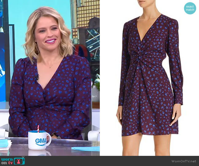 Bernette Dress by Parker worn by Sara Haines (Sara Haines) on Good Morning America