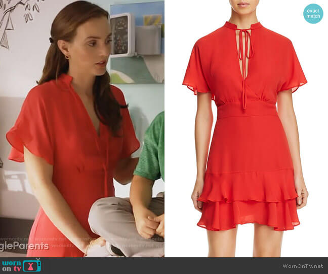 Natalie Chiffon Dress by Parker worn by Angie (Leighton Meester) on Single Parents