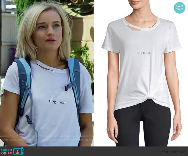 Harlow Dog Mom Tee by n:Philanthropy worn by Terra Newell (Julia Garner) on Dirty John