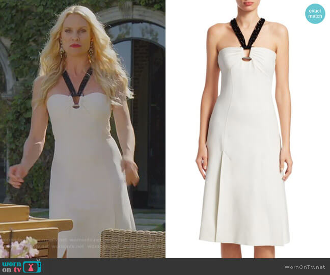 Macrame Dress by Proenza Schouler worn by Alexis Carrington (Nicollette Sheridan) on Dynasty