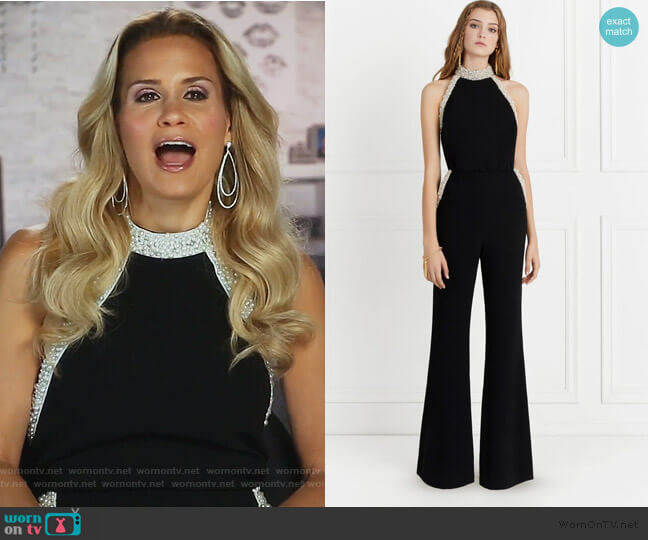 Elinor Jumpsuit by Rachel Zoe worn by Jackie Goldschneider  on The Real Housewives of New Jersey