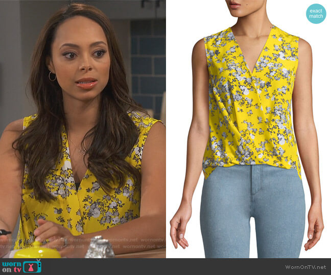 Victor Sleeveless Wrap Blouse by Rag and Bone worn by Claire (Amber Stevens West) on Happy Together