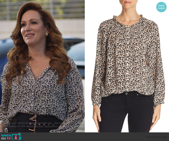 Leopard-Printed Silk Top by Rebecca Taylor