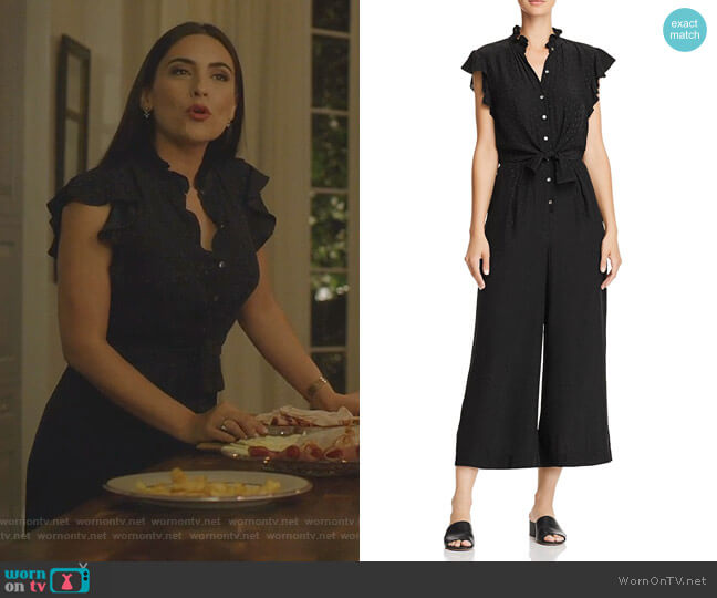 Silk Jacquard Heart Jumpsuit by Rebecca Taylor worn by Cristal Jennings (Ana Brenda Contreras) on Dynasty