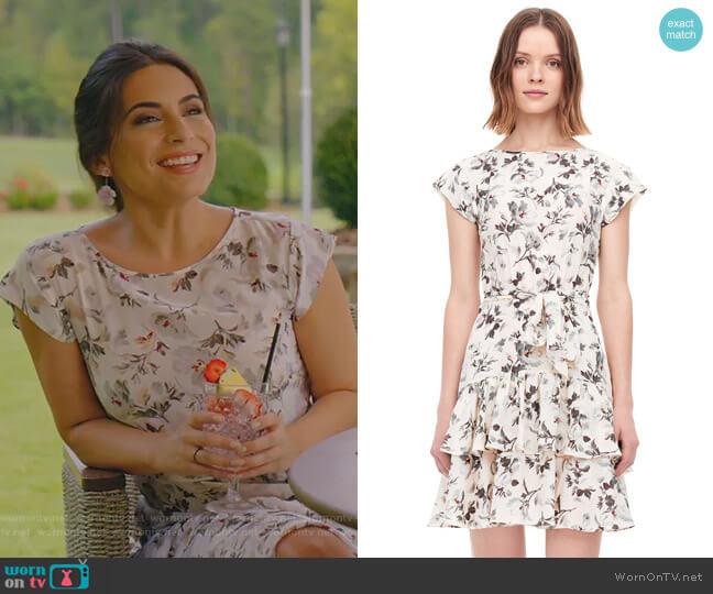 Sofia Dress by Rebecca Taylor worn by Cristal Jennings (Daniella Alonso) on Dynasty