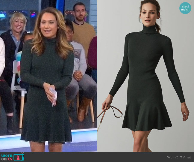 Mimi Dress by Reiss worn by Ginger Zee  on Good Morning America