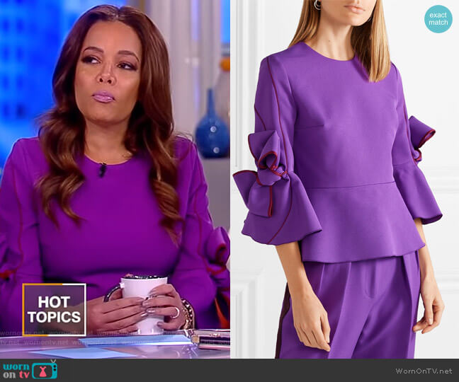 Ricciarini bow-embellished Blouse by Roksanda worn by Sunny Hostin  on The View