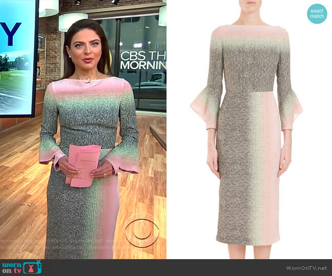 Goodwin Dress by Roland Mouret worn by Bianna Golodryga  on CBS This Morning