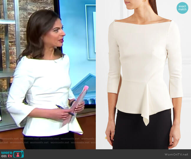 Millom Top by Roland Mouret worn by Bianna Golodryga  on CBS This Morning
