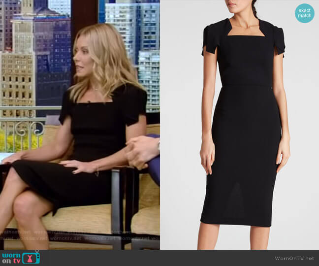 Royston Dress by Roland Mouret worn by Kelly Ripa  on Live with Kelly & Ryan