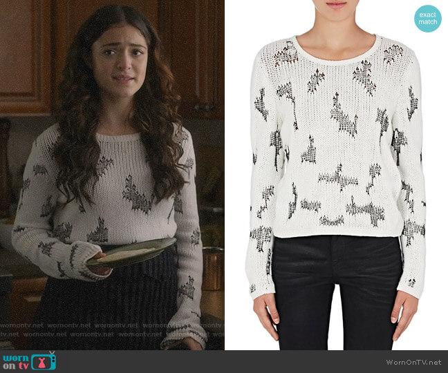 Stitch-Inset Cashmere Sweater by Saint Laurent worn by Olive Stone (Luna Blaise) on Manifest
