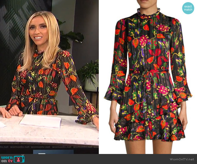 Marissa Dress by Saloni worn by Giuliana Rancic on E! News