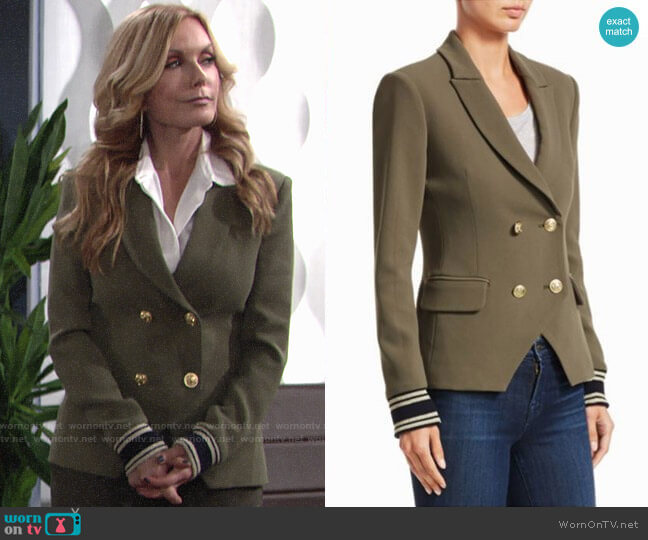 Scripted Double Breasted Blazer worn by Lauren Fenmore (Tracey Bregman) on The Young & the Restless