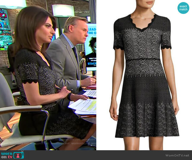 Snakeskin-Print Wool Dress by Yigal Azrouël worn by Bianna Golodryga (Bianna Golodryga) on CBS This Morning