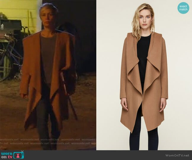SAMIA double-face wool coat by Soia & Kyo worn by Liza Weil on HTGAWM