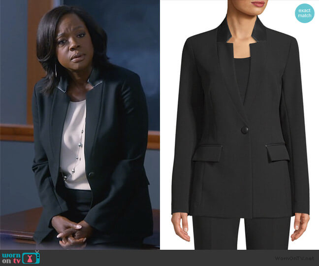 Bella Double Weave Blazer by St. John Collection worn by Viola Davis on HTGAWM