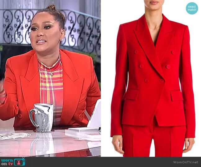 Japanese Tailoring Double-Breasted Blazer by Stella McCartney worn by Adrienne Houghton (Adrienne Houghton) on The Real